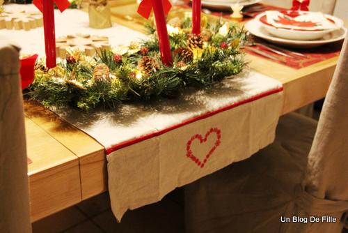 Un blog de fille d co table de no l rustique traditionnel for Decoration lumignon 8 decembre