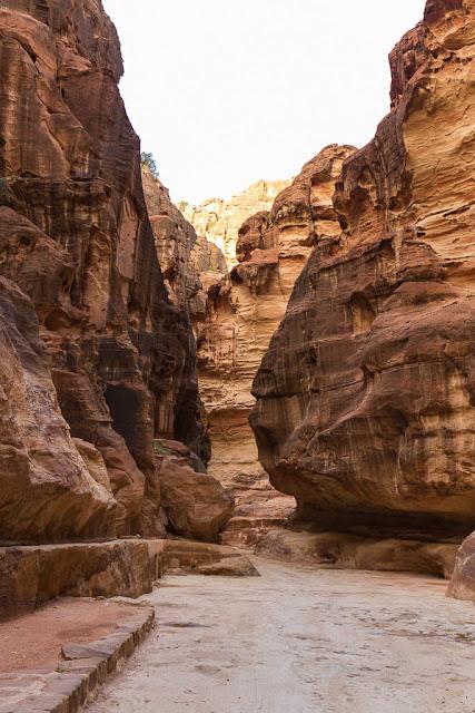 Paredes del Siq de Petra, Jordania