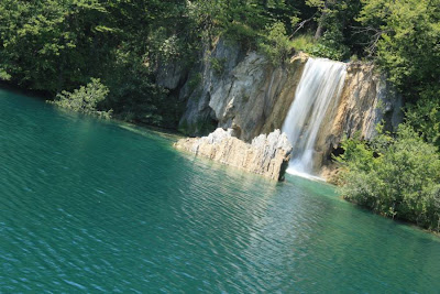 Waterfall in Plitvice Lakes in Croatia