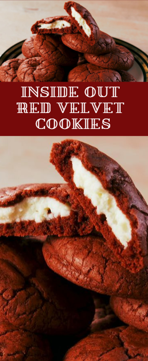 Inside Out Red Velvet Cookies - food-drink-recipes.com