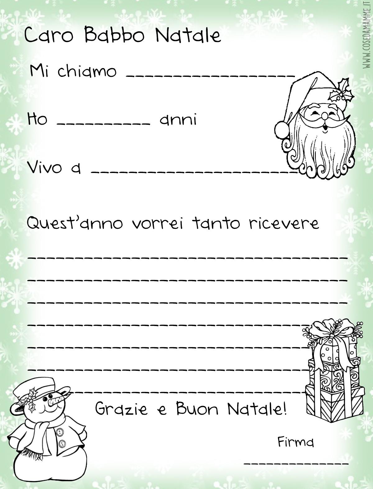 Mammarum Lettera Di Babbo Natale Da Stampare Gratis