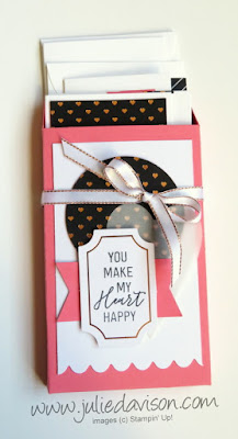 Stampin' Up! Paper Pumpkin January 2018 Heartfelt Love Notes Alternative Projects ~ www.juliedavison.com #redboxchallenge
