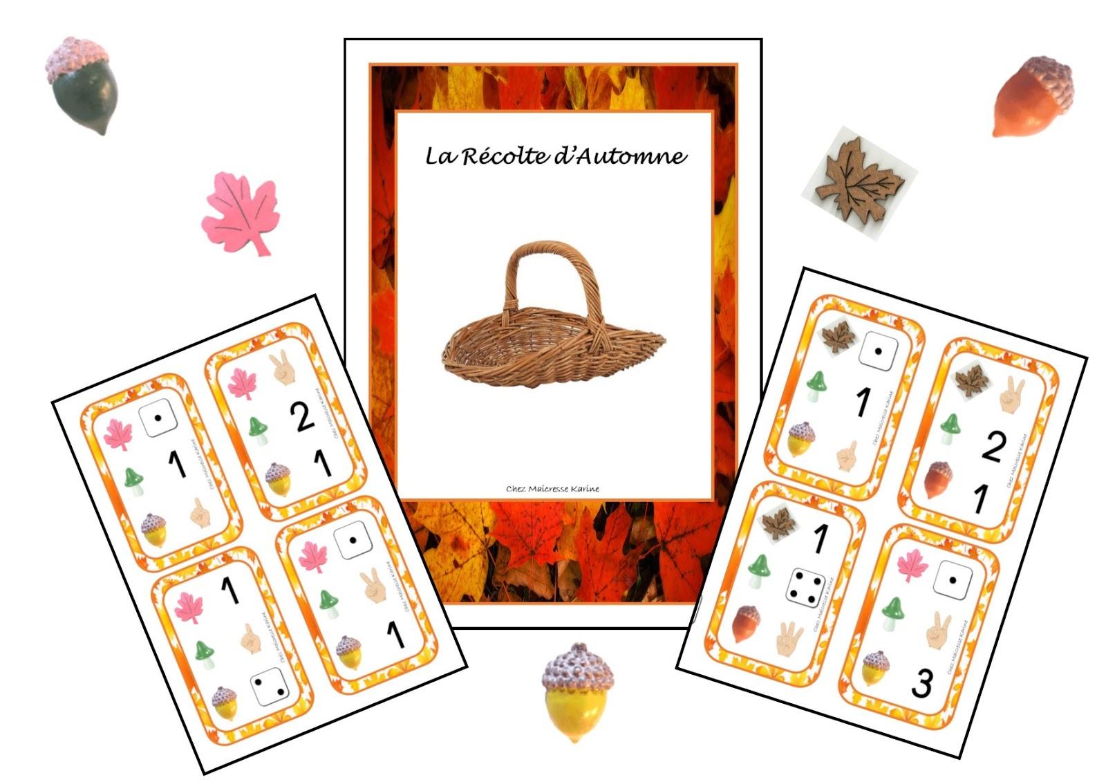 Chez Maicresse Karine Jeu La Récolte D Automne