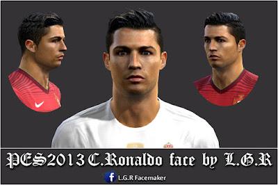 PES2013 C.Ronaldo face by L.G.R