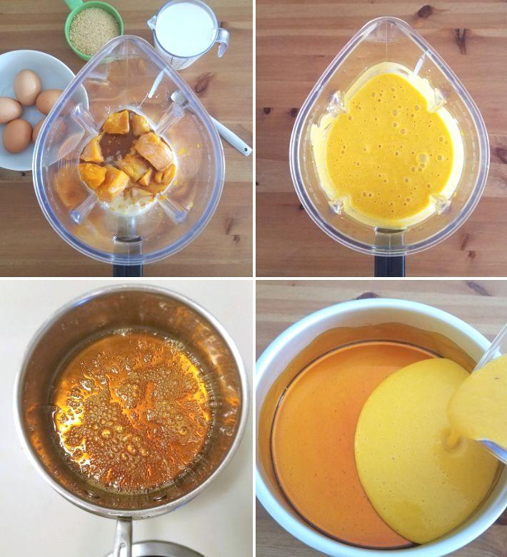 Preparación paso a paso del quesillo de auyama-calabaza, receta fácil