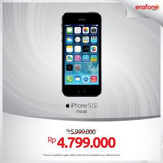iPhone 5s Turun Harga Menjadi Rp 4.799.000