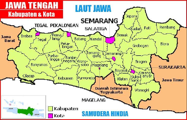 Gambar Peta Administratif Jawa Tengah