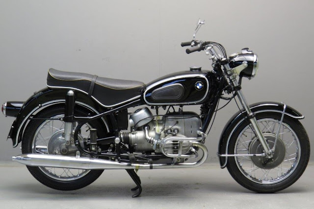 BMW R60/2 1960s German classic motorcycle
