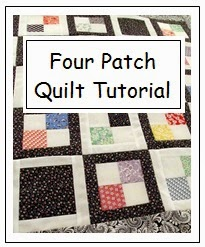 Free how to make a 4-patch quilt tutorial.