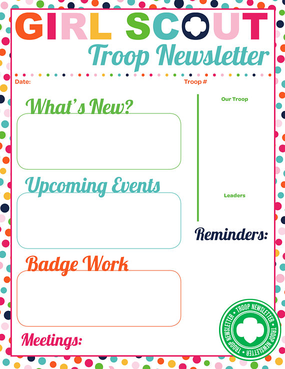 I am Girl Scouts 2017 - troop to task example