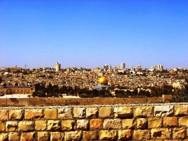 Meczet w Jerozolimie - widok z Góry Oliwnej