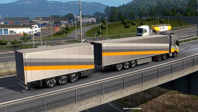 American Truck Simulator e Euro Truck Simulator 2 permitirão a compra de carretas