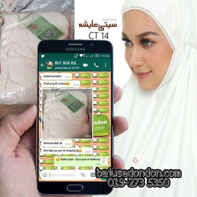 Testimoni Telekung Siti Aisyah (Putih)