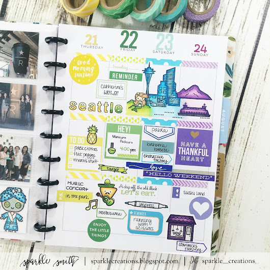 Memory Keeping in My Planner - Sweet Stamp Shop Blog Post