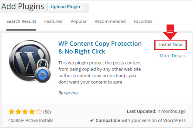 Install and activate WP Plugin