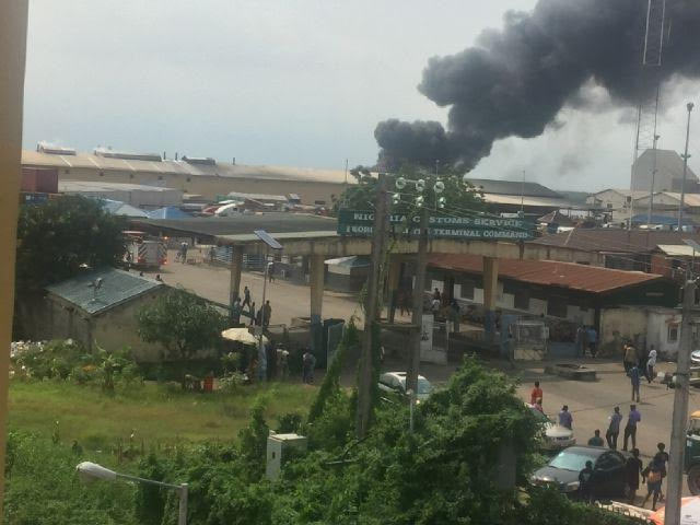 Fire razes Dangote Spaghetti factory in Lagos