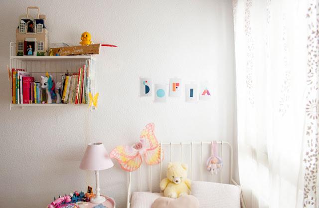 Láminas letras geométricas para formar nombres. Decoración infantil. Kidsroom decoración. Geometríc letters.