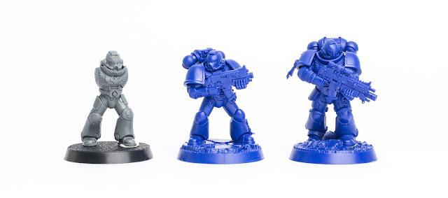 5x Space Marine Tactical Squad Head M *BITS*
