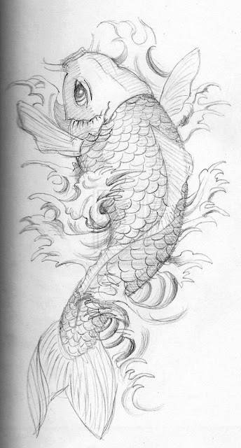 Awesome Koi Fish Tattoo Designs