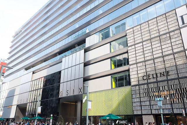 Ginza 6 facade, Ginza, Chuo-ku, Tokyo.