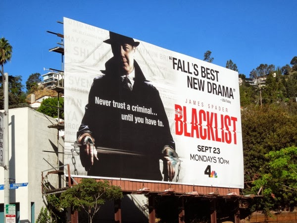 The Blacklist best new drama billboard