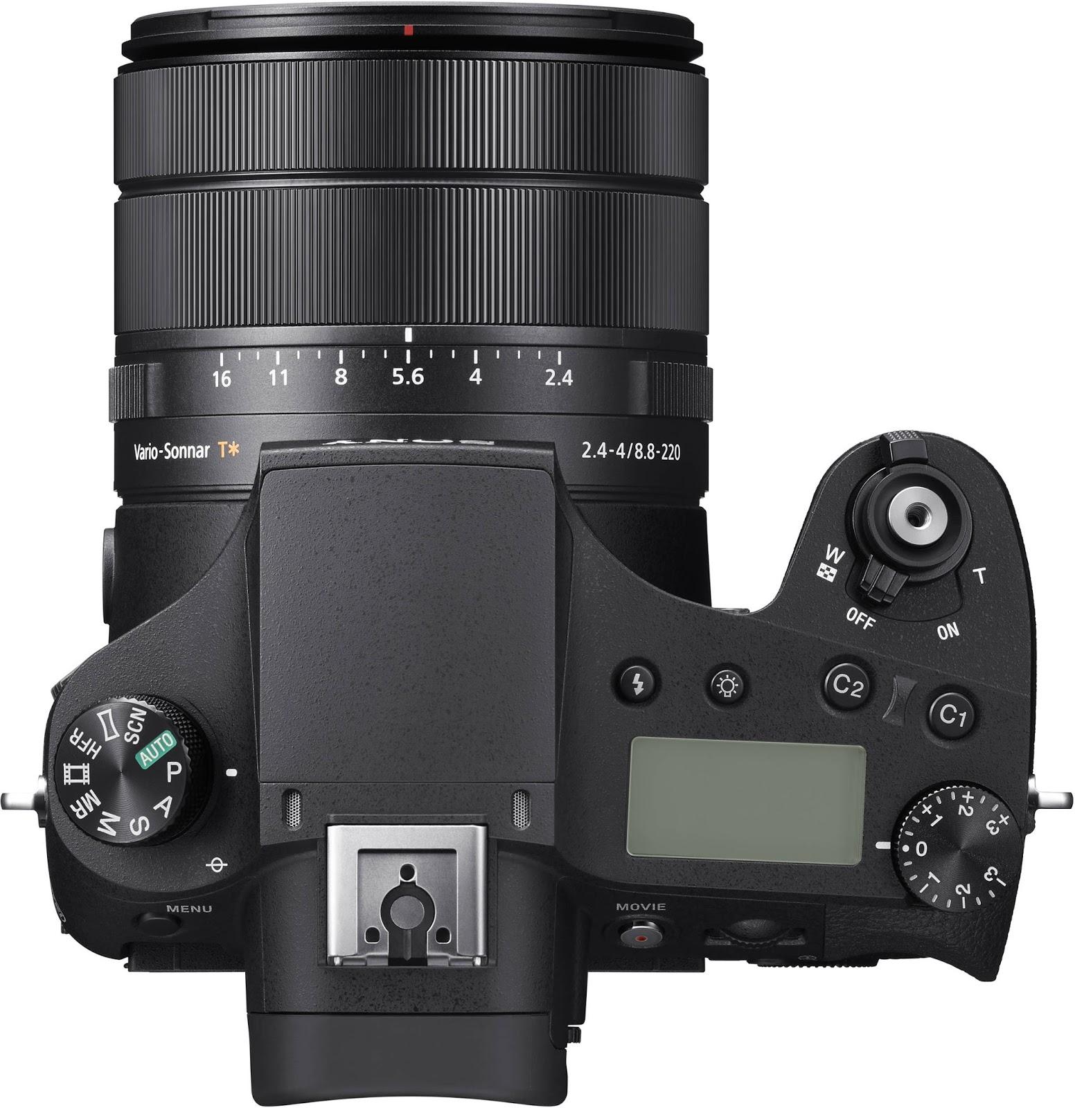 Sony RX10 IV, вид сверху