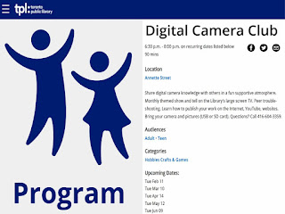 Annette Public Library: Digital Camera Club for Beginners and Amateurs