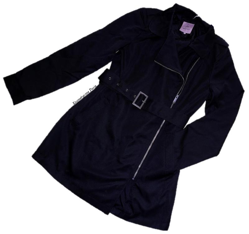 zalando czarny płaszcz cienki