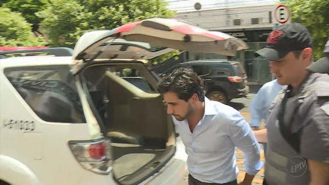 Dono da Seleta, Jorge Saquy Neto, preso em Ribeirão Preto (SP) (Foto: Reprodução/EPTV)