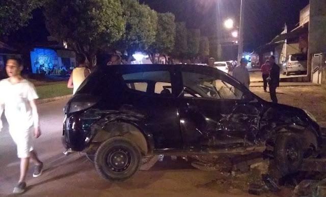 Urgente; veículo atravessa preferencial e provoca grave acidente em Cacoal