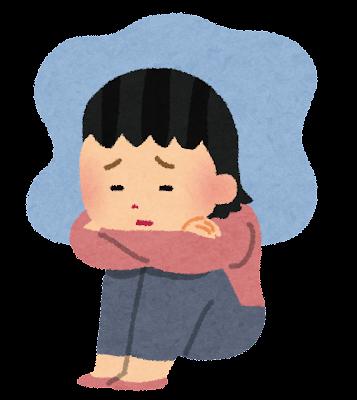 うつ病の女性のイラスト