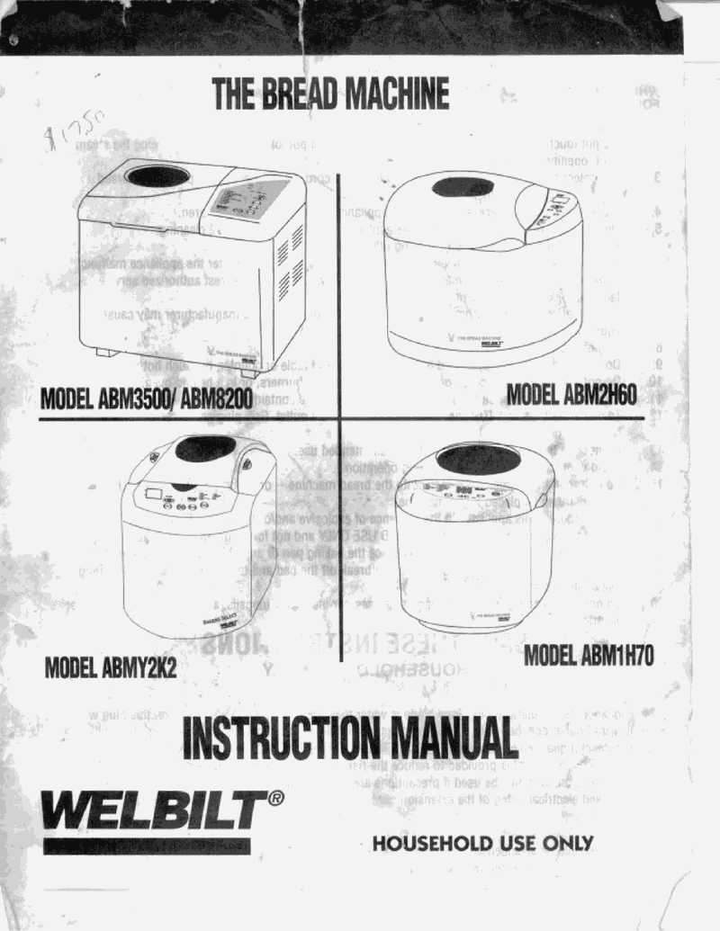 Amazon. Com: welbilt abm4100t bread manual & recipes booklet.