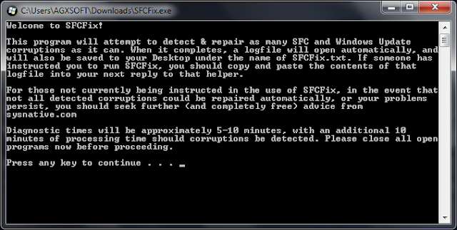 SFCFix 3.0 [Reparar automáticamente el sistema de archivos y corrupciones del registro]