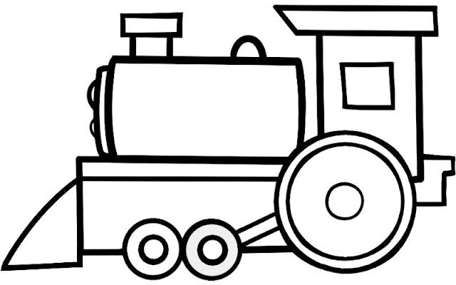 Mewarnai Gambar Kereta Api - 7