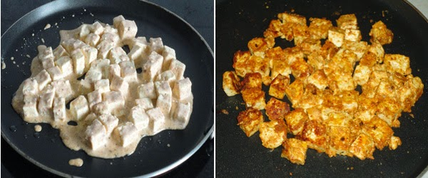paneer tikka shallow friedon a griddle