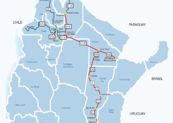 Resultado de imagen para siete corredores estratégicos ferroviarios del Belgrano