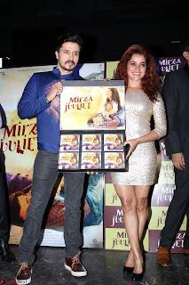 Pia Bajpai and Darshan Kummar Launching the Music of movie Mirza Juuliet 005.JPG