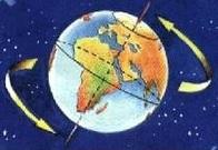 Dibujo del Movimiento de Rotación de la Tierra
