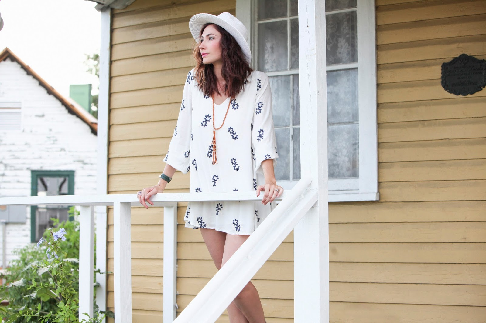 Amy West in coastal boho fashion