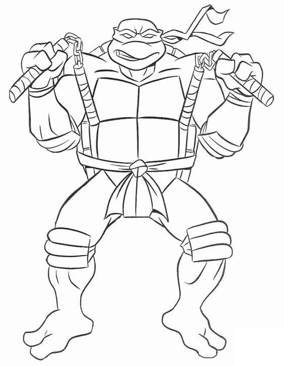 Tranh tô màu Ninja rùa 5