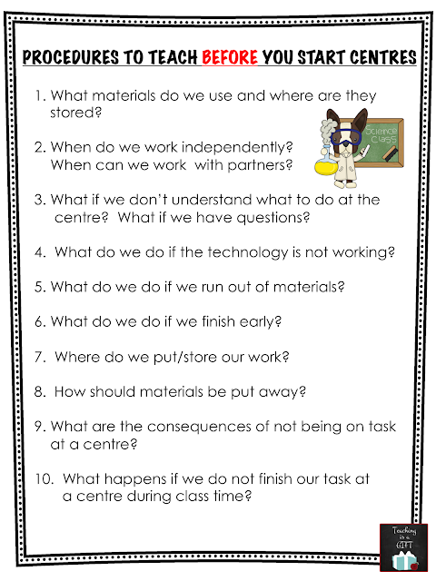 Procedure for Setting Up Centres for Science and Technology @teachingisagift.blogspot.ca