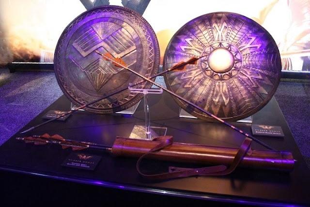 Flechas y escudos de la película de Wonder Woman