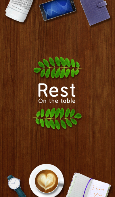 Rest on the table