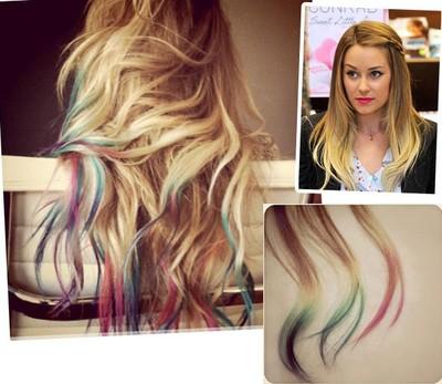 in moda for me mechas coloridas cómo pintar temporalmente el cabello