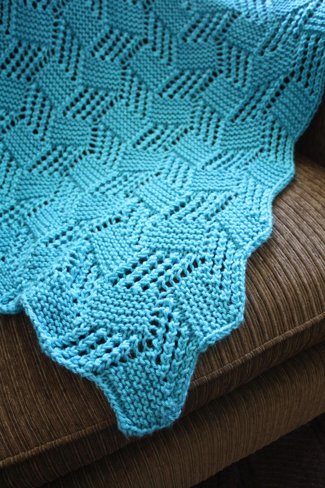 snapdragon crafts: big needle knit afghans: lace block ...