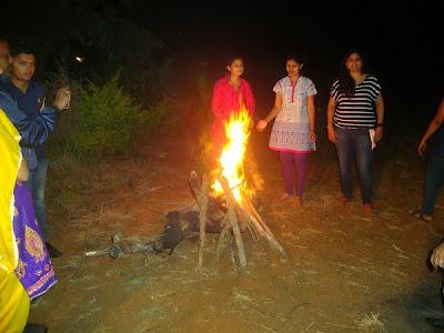 Pawna Lake Camping Fire