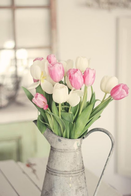 pinterest spring tulips in can