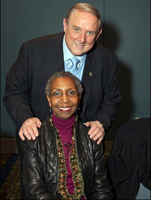 President Cliff L. Wood with Dr. Gwendolyn Jordan Dungy