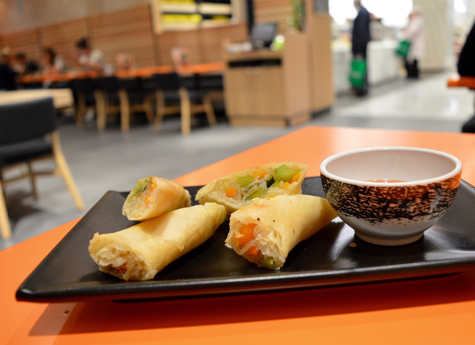 Ko Sai Newcastle - Fixed Price Lunch Menu | A Review - Vegetable Spring Rolls and Sweet Chilli Sauce