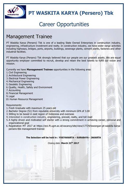 Job Vacancy Surabaya 2017